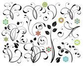 Colección de elementos de diseño floral — Vector de stock