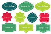 Kolekce design rámů — Stock vektor