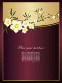 Abstract background with flowers — Stock Vector