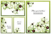 Colección de fondos florales — Vector de stock