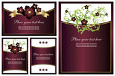 Collection of floral backgrounds — Vector de stock