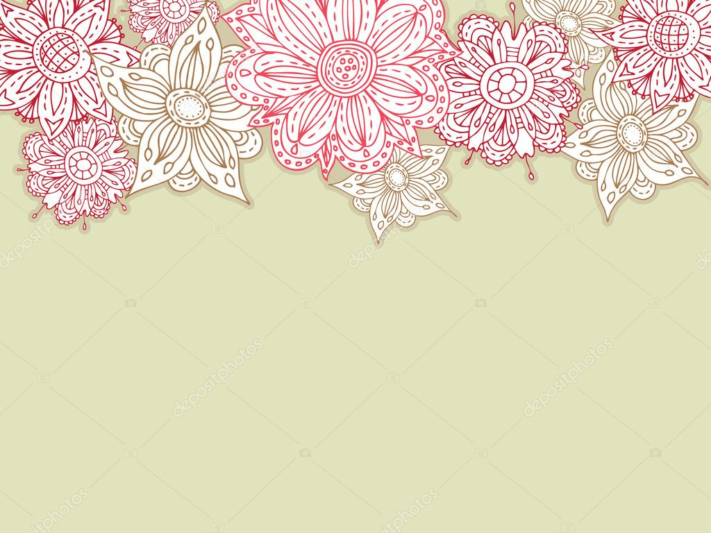 Flower background. Easy to edit vector image. — Stock Vector #2863318