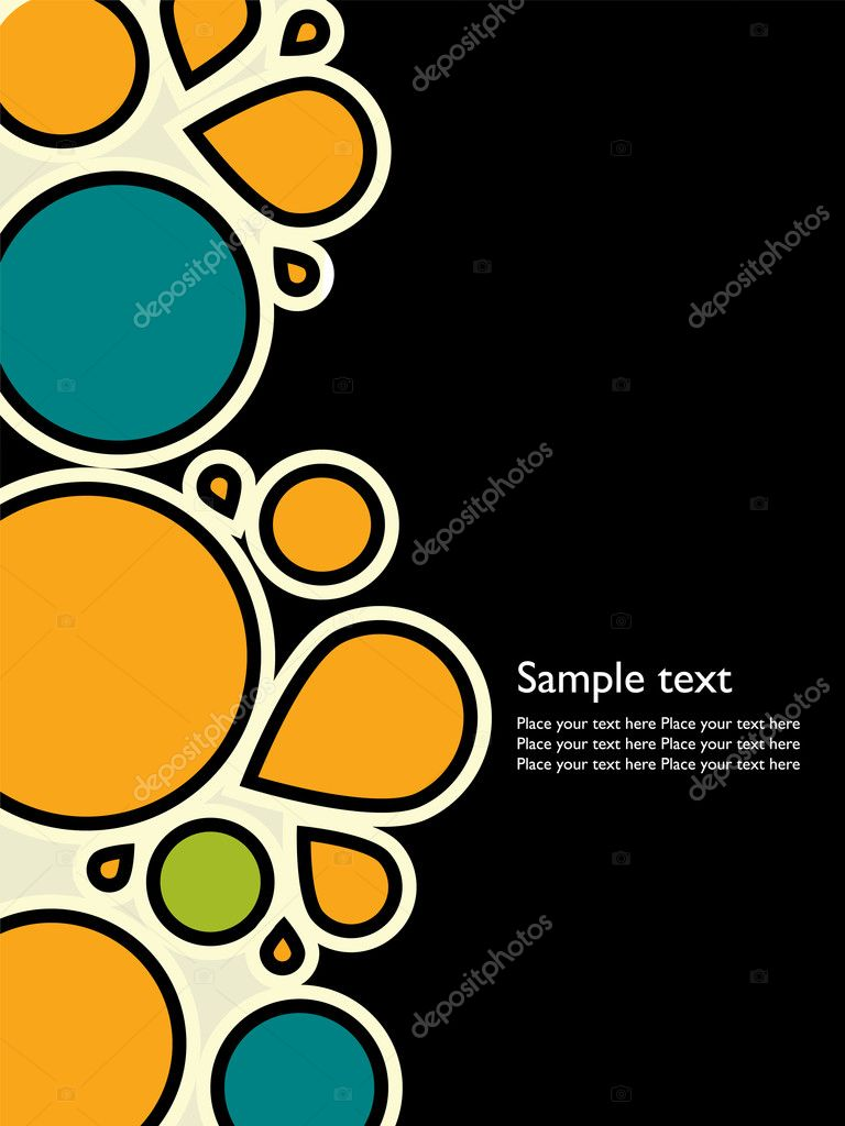 Abstract background with space for text. Easy to edit vector image. — Stock Vector #2863417