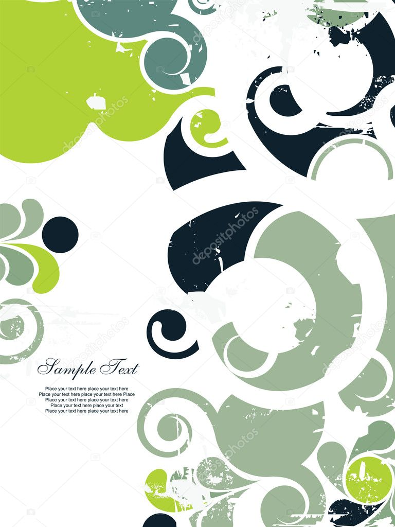 Abstract grunge background with swirls. Easy to edit vector image. — Image vectorielle #2863899