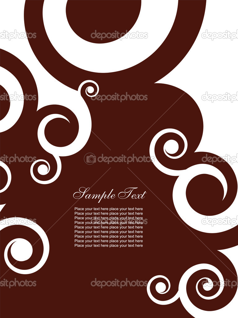 Abstract background with swirls. Easy to edit vector image. — Stock Vector #2864521