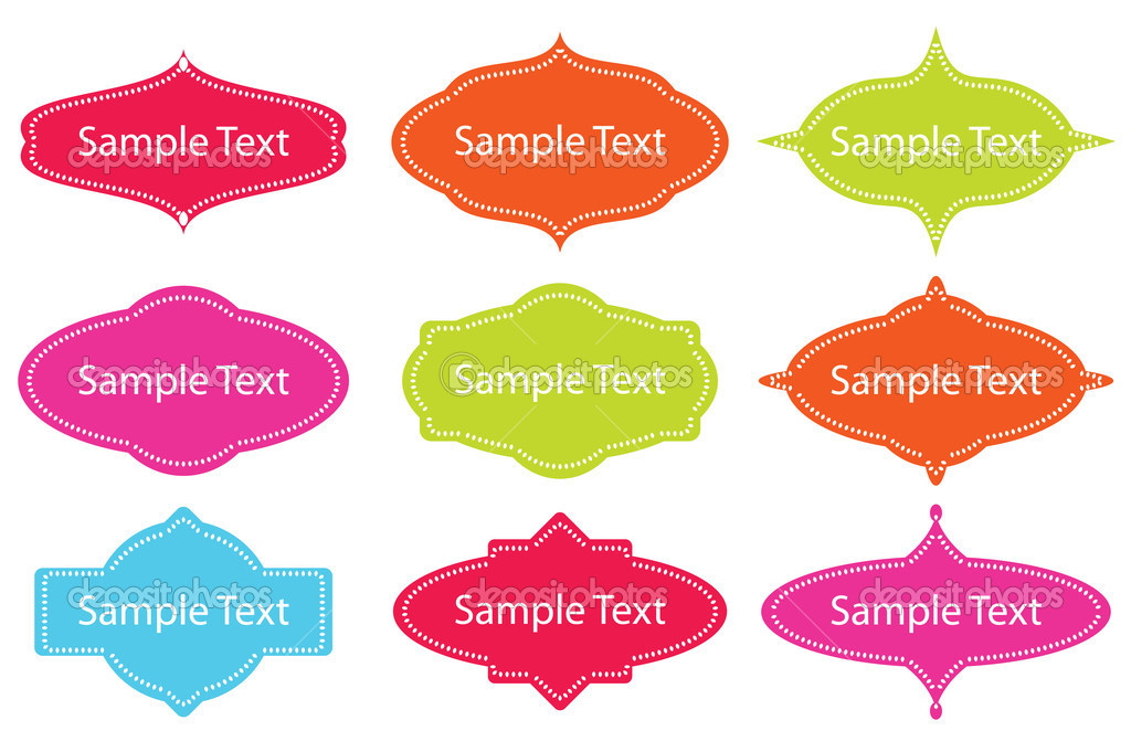 Collection of design frames. Easy to edit vector image.  Stock Vector #2867671