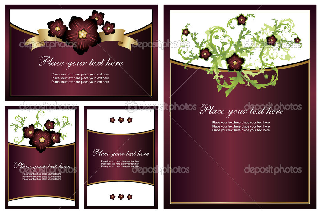 Collection of floral backgrounds. Easy to edit vector image. — Stock Vector #2867952