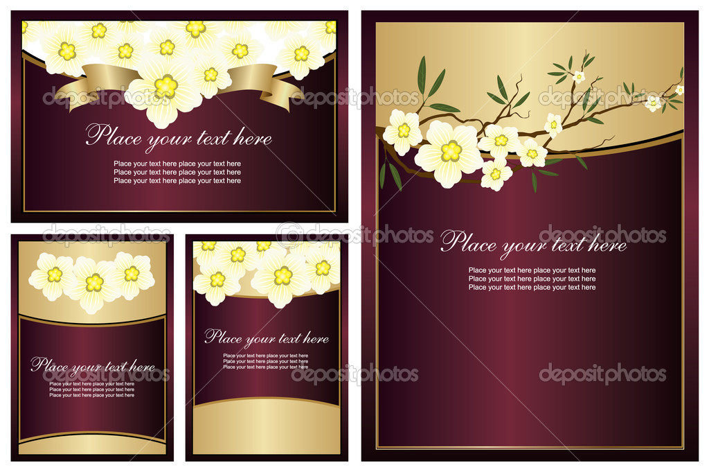 Collection of shiny backgrounds with flowers. Easy to edit vector image. — Stock Vector #2868160