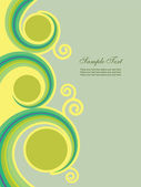 Abstract background with swirl — Stock Vector