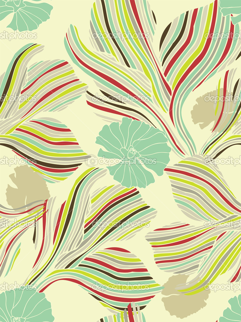 Seamless flower background. Easy to edit vector image. Ready to use as swatch. — Stock Vector #2910922