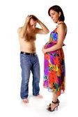 Pregnant wife — Stock Photo