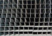 A series of aluminum profile — Stock Photo