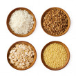 Assorted grains - Stock Photo