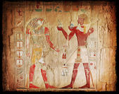 Egyptian hieroglyphics — Foto Stock