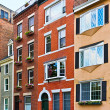 Row of brick houses in Boston — Stock Photo