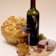 Vintage glass and bottle wine — Stock Photo #3750642