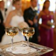 Stock Photo: Champagne in two glasses