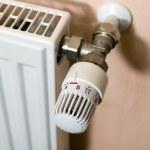 Heat regulator of radiator — Stock Photo