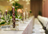 Table for wedding party — Stock Photo