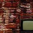 Old tv with grunge background — Stock Photo #2927412