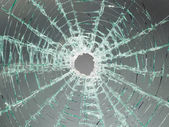 Broken car glass of windscreen — Stock Photo