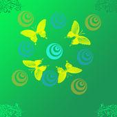Bild med fjärilar — Stockfoto