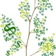 Stock Photo: Tree with dollar symbol