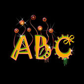 Colorful capital letters A, B, C — Stock Photo