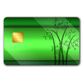 Credit card with colorful oranaments — Stock Photo