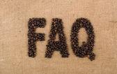Word of beans: FAQ — Stock Photo