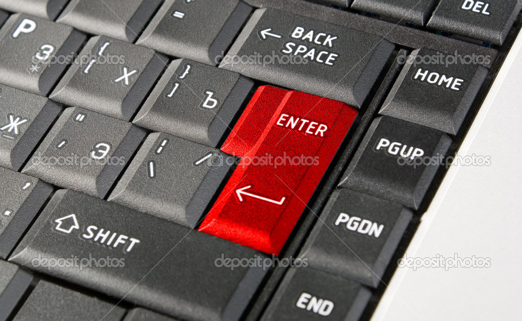 There is black keyboard with word enter  Stock Photo #2932569