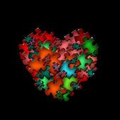 Abstrakcyjny kształt puzzle — Zdjęcie stockowe