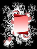 Frame with fantastic ornaments around — Stock Photo