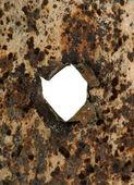 穴を有する金属 — ストック写真