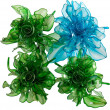 Green and blue roses — Stock Photo