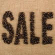 Word of beans: SALE - Stock Photo