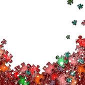 Ramki kolorowe puzzle elementy — Zdjęcie stockowe