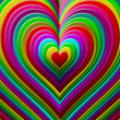 Many colorful heart shape — Stockfoto