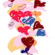 Hearts in various colors — Stock Photo