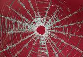 Broken car glass of windscreen — Stock Photo