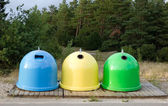 Colorful dustbins — Stock Photo