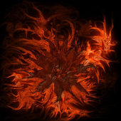 Abstract flower in flames — Stock Photo