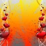 心脏的形状,爱情观 — 图库照片