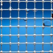 Stock Photo: Metal bars and water drops