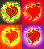 Picture of various colors of heart — Stock Photo