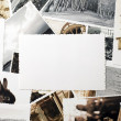 Stock Photo: Pictures with ornamented edges on table