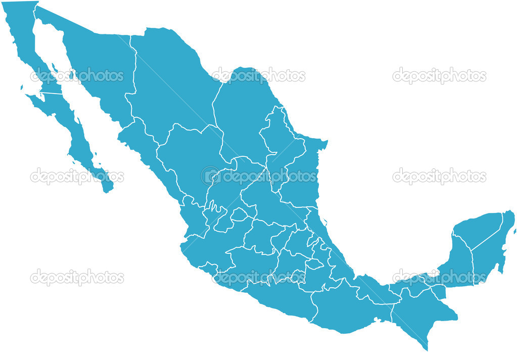 There is a map of Mexico country — Stock Photo #3347604