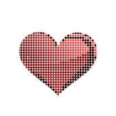 A forma di cuore da puntini — Foto Stock