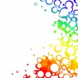 Colorful bubbles frame — Stock Photo