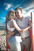 Young beautiful couple — Stock fotografie